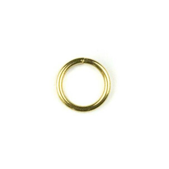 Coated Brass 8mm Open Jump Rings - 100 per bag - YH-026c