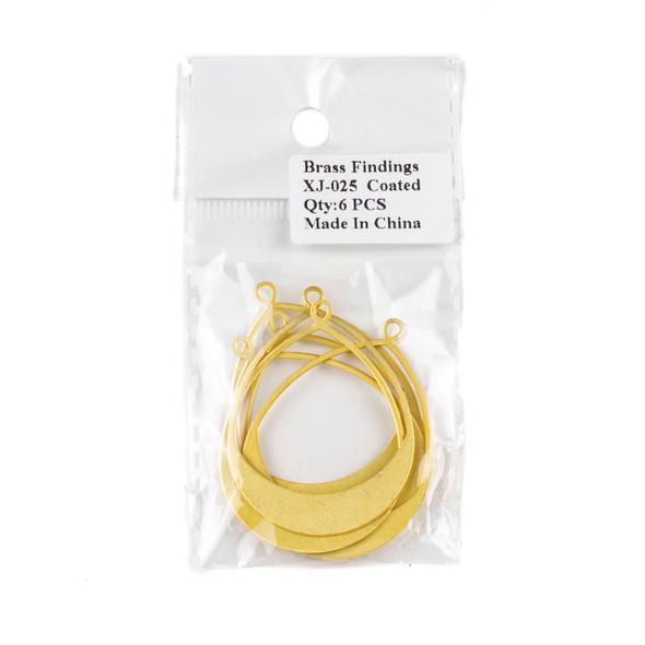 Coated Brass 36x49mm Teardrop Hoop Components/Earring Finding - 6 per bag - CTBXJ-025c