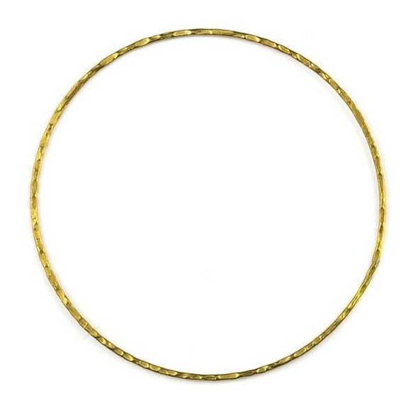 Coated Brass 60mm Textured Hoop Components - 6 per bag - CTBYH-013c