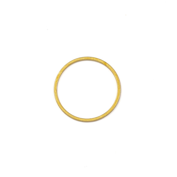 Coated Brass 20mm Hoop Link Components - 6 per bag - CTBXJ-009c