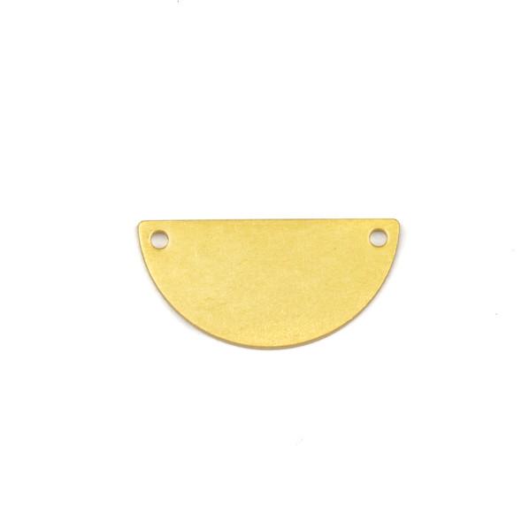 Coated Brass 10x21mm Half Moon Link Components - 6 per bag - CTBXJ-022c