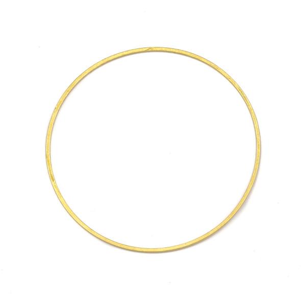 Coated Brass 44mm Hoop Link Components - 6 per bag - CTBXJ-010c