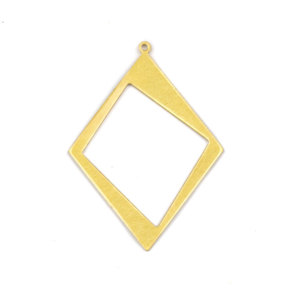 Coated Brass 30x41mm Asymmetrical Diamond Drop Components - 6 per bag - CTBXJ-055c