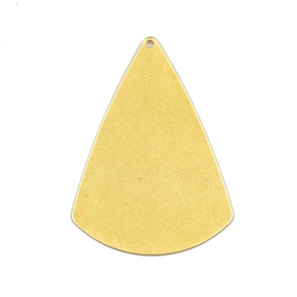 Coated Brass 31x42mm 2D Cone Shaped Drop Components - 6 per bag - CTBXJ-057c
