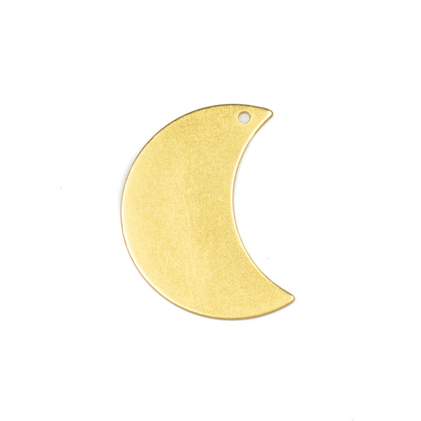 Coated Brass 20x29mm Waxing Crescent Moon Drop Components with 1 hole - 6 per bag - CTBPF-007c