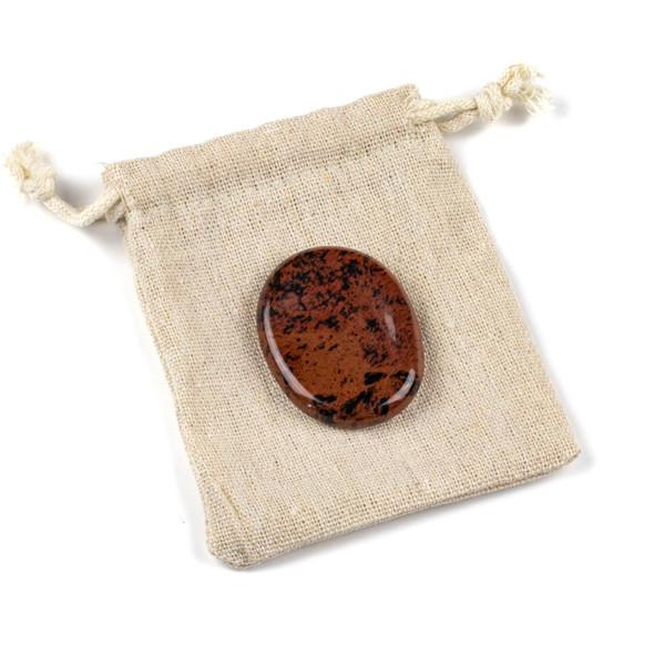 Mahogany Obsidian Worry Stone - 1 per bag