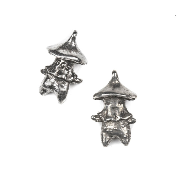 Green Girl Studios Pewter 14x24mm Mushroom Friend Charm - 1 per bag