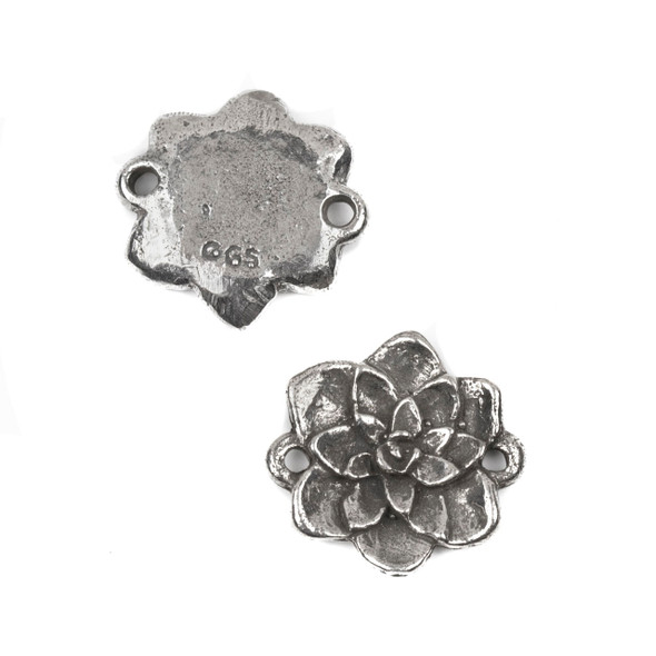 Green Girl Studios Pewter 22x24mm Azalea Link - 1 per bag