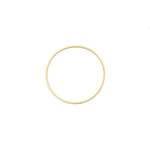 Coated Brass 24mm Hoop Link Components - 6 per bag - CTBXJ-024c