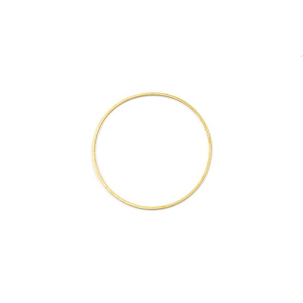 Coated Brass 24mm Hoop Link Components - 6 per bag - CTBXJ-024c