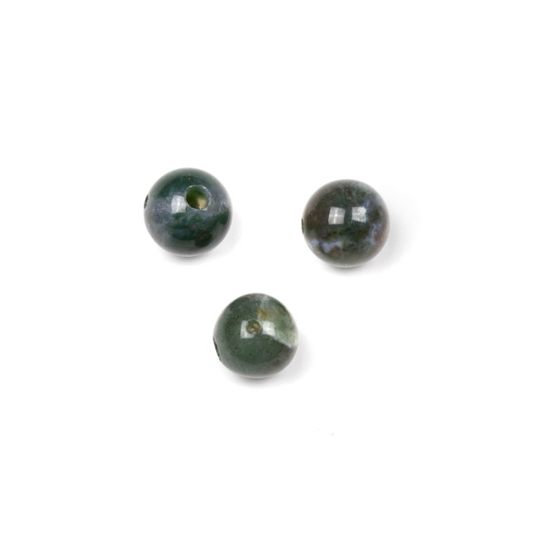 Fancy Jasper 10mm Guru/3 Hole Beads - 3 per bag