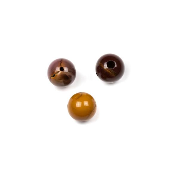 Mookaite 10mm Guru/3 Hole Beads - 3 per bag