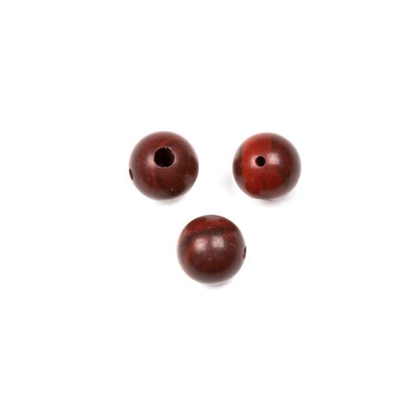 Rainbow Jasper 10mm Guru/3 Hole Beads - 3 per bag