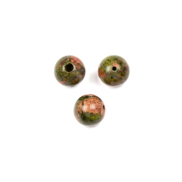 Unakite 10mm Guru/3 Hole Beads - 3 per bag