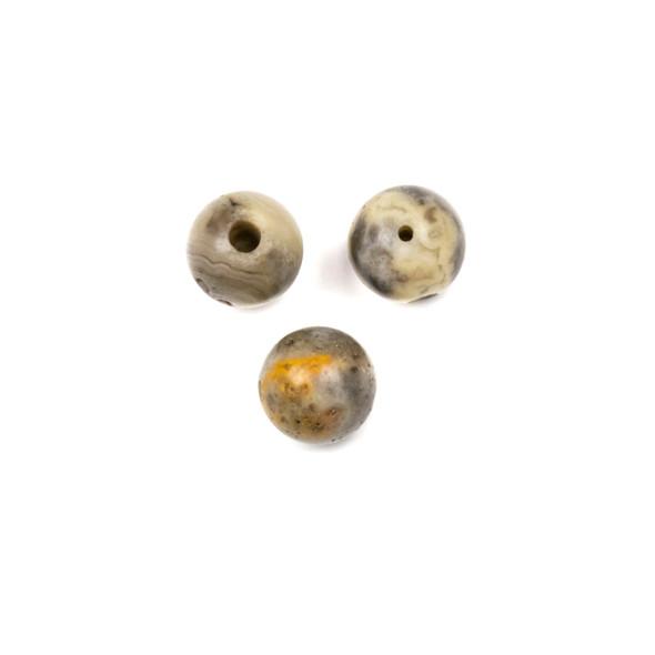 Crazy Lace Agate 10mm Guru/3 Hole Beads - 3 per bag