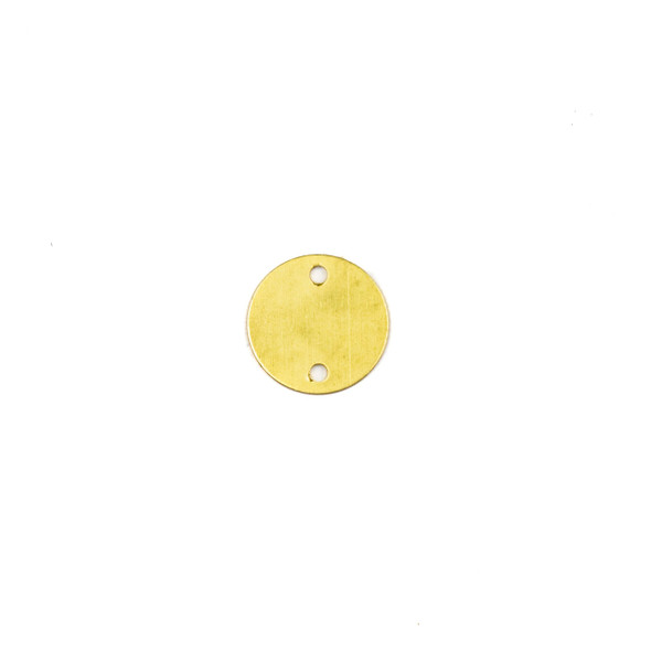 Coated Brass 12mm Coin Link Component with 2 Holes - 6 per bag - CG00092c