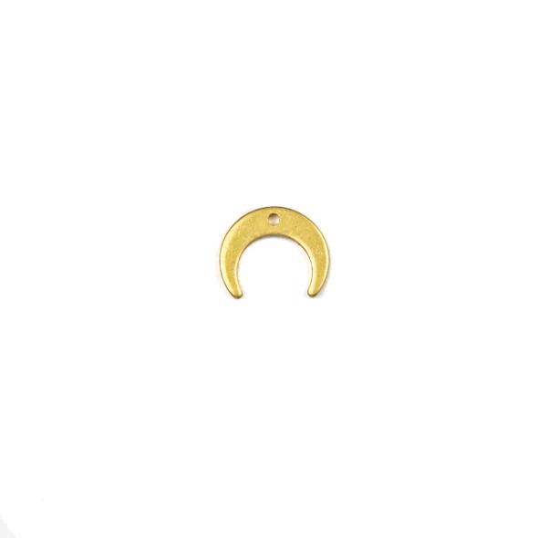 Coated Brass 9x11mm Tiny Crescent Drop Component  - 6 per bag - CG00454c