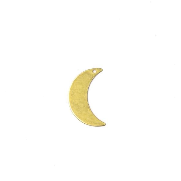 Coated Brass 12x22mm Crescent Moon Drop Component - 6 per bag - CG00523c
