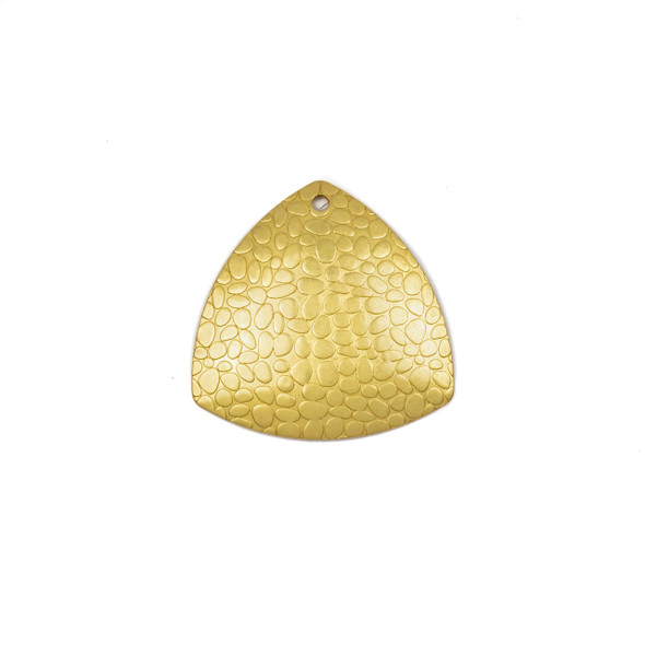 Coated Brass 28x28mm Concave Trillion Component with Embossed Pebble Pattern  - 4 per bag - CQ00240c