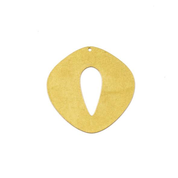 Coated Brass 33X33mm Cat Eye Component - 6 per bag - JG00154c