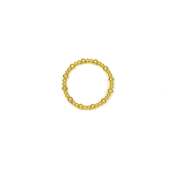 Coated Brass 20mm Beaded Ring Component - 6 per bag - NS00493c