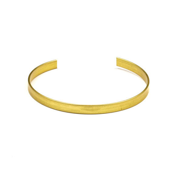 Coated Brass 60mm Split Hoop Bangle Component  - 1 per bag - QB00328c