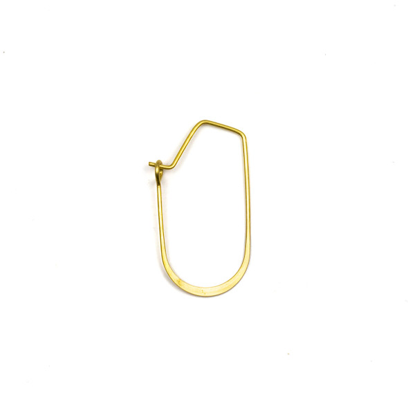 Coated Brass 15x30mm U Shaped Hoop Ear Wires - 4 pcs per bag - WR00073c