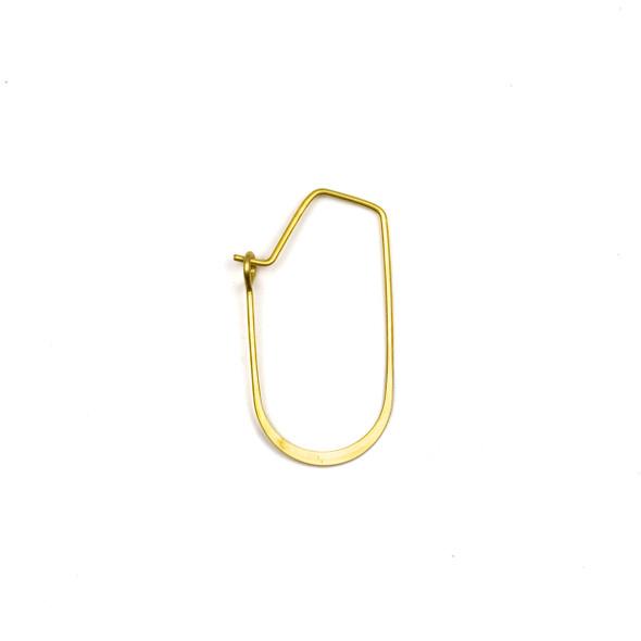 Coated Brass 15x30mm U Shaped Hoop Ear Wires - 4 pcs per bag - WR00073c
