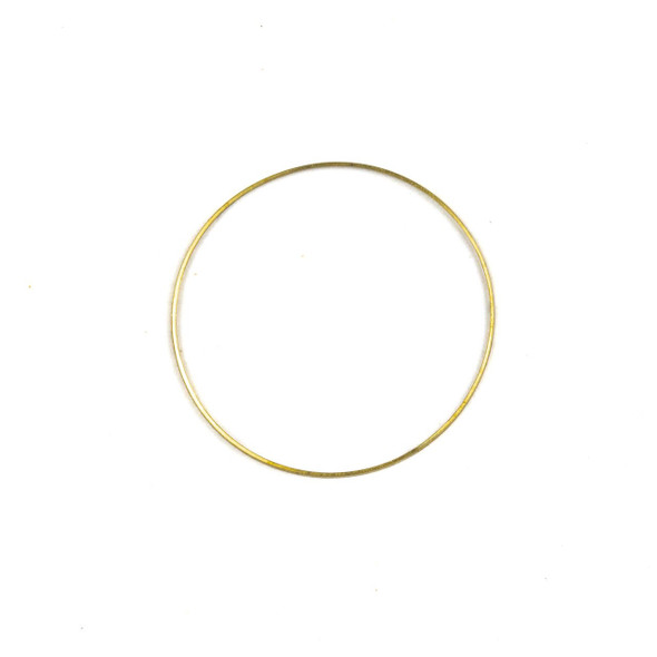 Coated Brass 34mm Hoop Link Components - 6 per bag - CTBXJ-023c