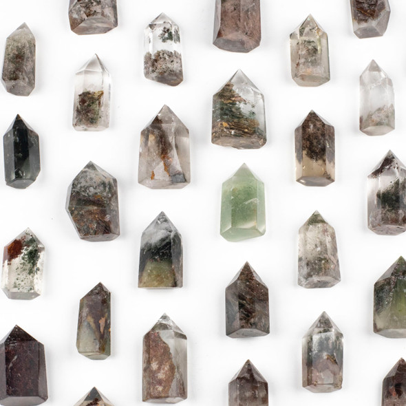 Phantom Quartz Small Crystal Point Tower - 1 piece