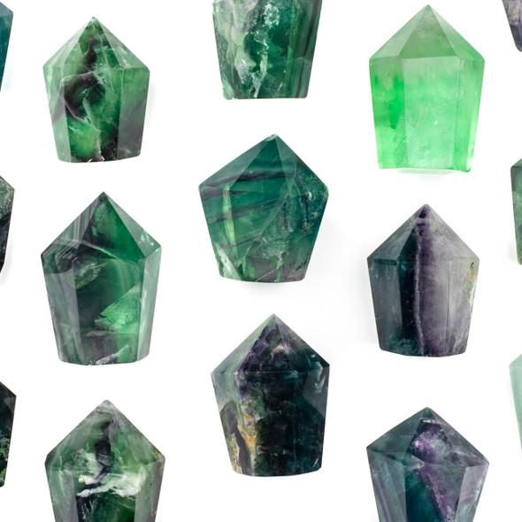 Rainbow Fluorite Medium Crystal Point Tower - 1 piece