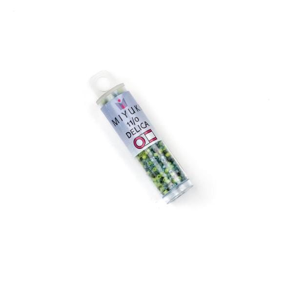 Miyuki 11/0 Bluegrass Mix Delica Seed Beads - #MIX9106, 7.2 gram tube