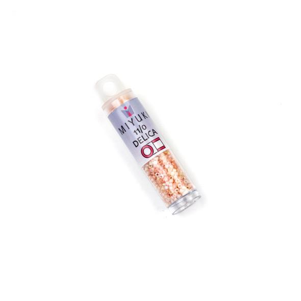 Miyuki 11/0 Coral Blush Mix Delica Seed Beads - #MIX9020, 7.2 gram tube