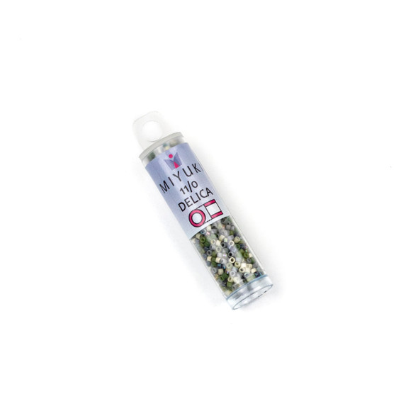 Miyuki 11/0 Stonehenge Mix Delica Seed Beads - #MIX9026, 7.2 gram tube