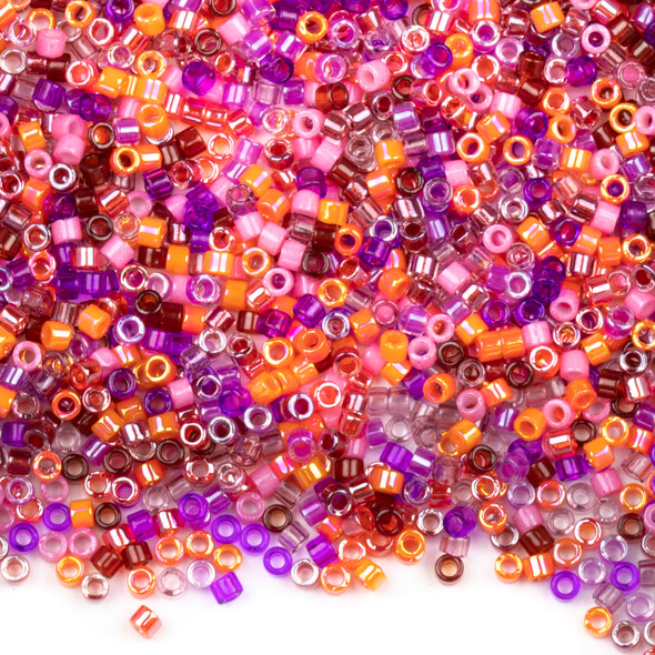 Miyuki 11/0 Melonberry Mix Delica Seed Beads - #MIX10, 7.2 gram tube