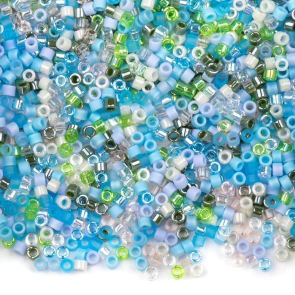 Miyuki 11/0 Serenity Mix Delica Seed Beads - #MIX08, 7.2 gram tube