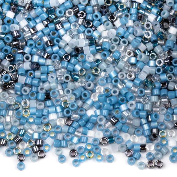Miyuki 11/0 Denin Blues Mix Delica Seed Beads - #MIX9093, 7.2 gram tube