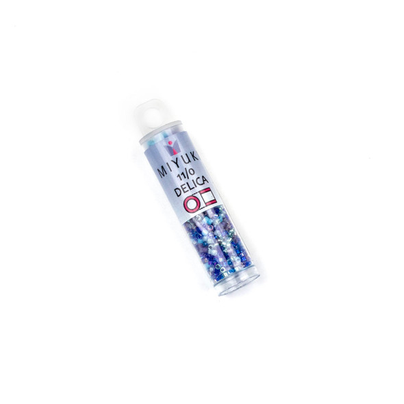 Miyuki 11/0 Caribbean Blue Mix Delica Seed Beads - #MIX11, 7.2 gram tube