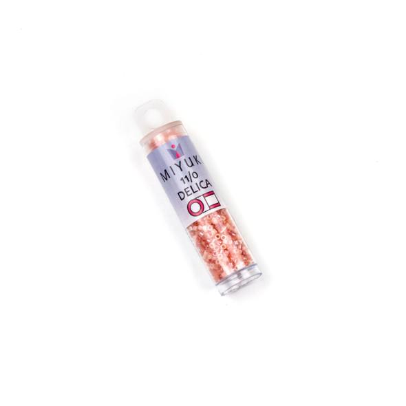Miyuki 11/0 Fresh Salmon Mix Delica Seed Beads - #MIX9079, 7.2 gram tube