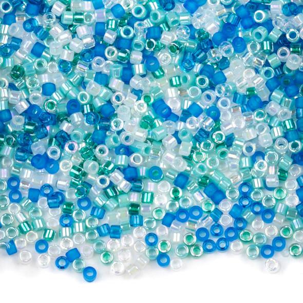 Miyuki 11/0 Frozen Mix Delica Seed Beads - #MIX9034, 7.2 gram tube