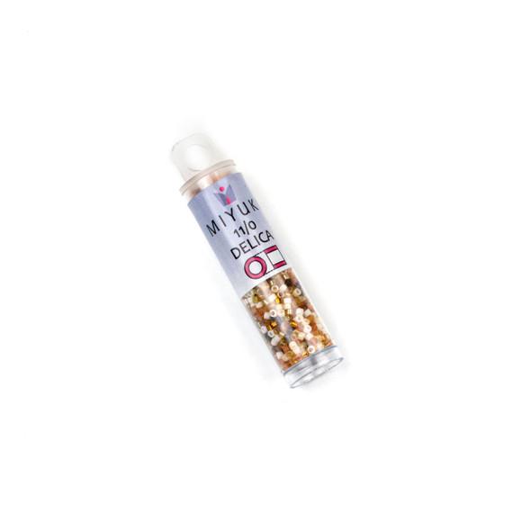 Miyuki 11/0 Wheatberry Mix Delica Seed Beads - #MIX04, 7.2 gram tube