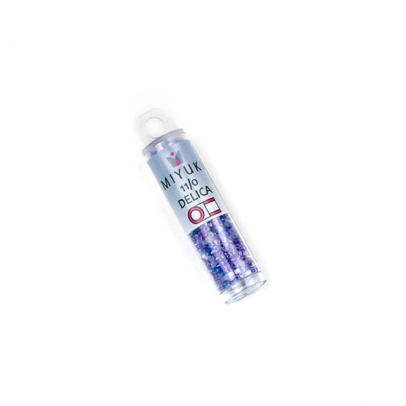 Miyuki 11/0 Blue Violets Mix Delica Seed Beads - #MIX9091, 7.2 gram tube