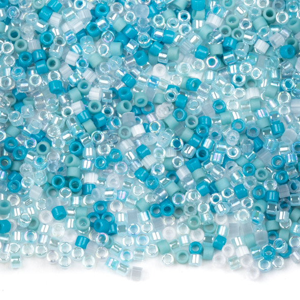 Miyuki 11/0 Seafoam Mix Delica Seed Beads - #MIX9097, 7.2 gram tube