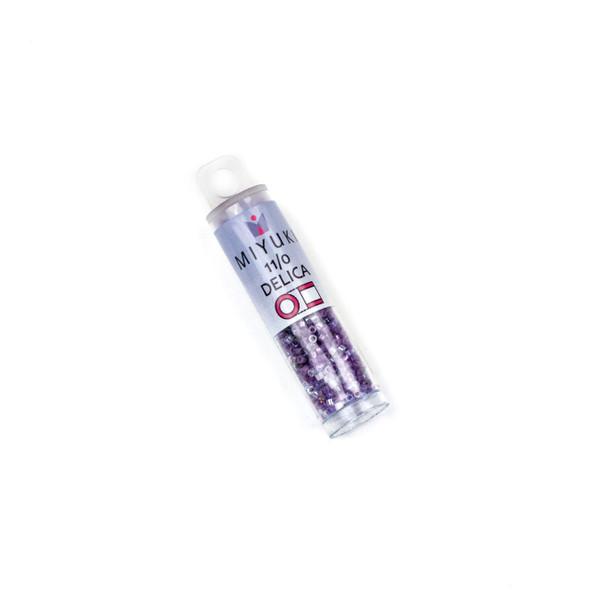Miyuki 11/0 Purple Haze Mix Delica Seed Beads - #MIX9099, 7.2 gram tube