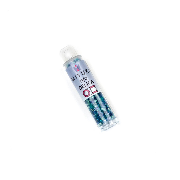 Miyuki 11/0 Ocean Deep Mix Delica Seed Beads - #MIX9105, 7.2 gram tube