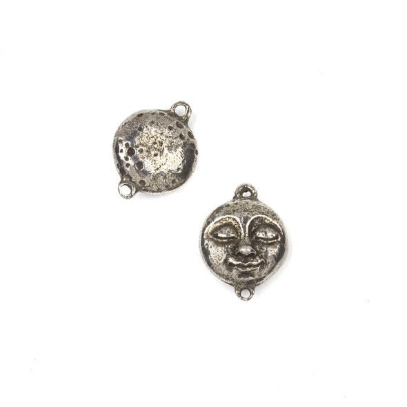 Green Girl Studios Pewter 16x21mm Moon Face Link - 1 per bag