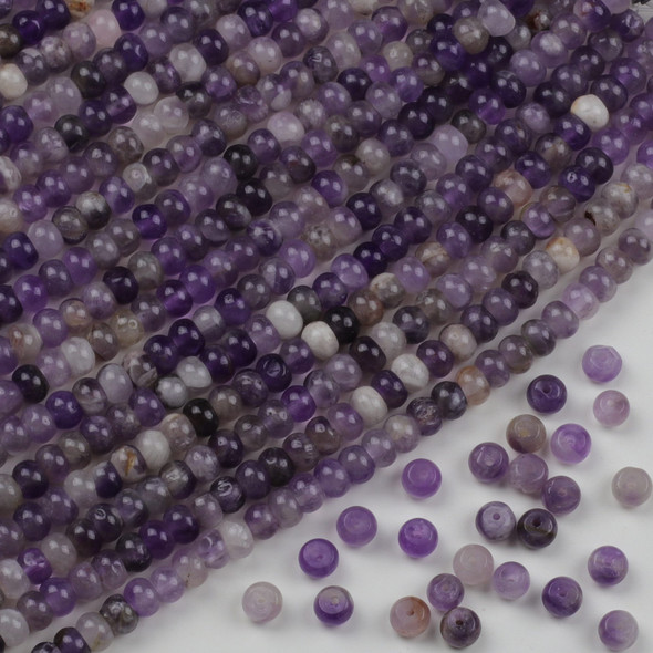 Amethyst 4x6mm Rondelle Beads - approx. 8 inch strand, Set A