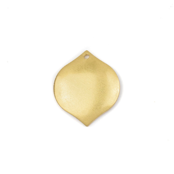 Raw Brass 19x22mm Marquis Component - 6 per bag - CG00804