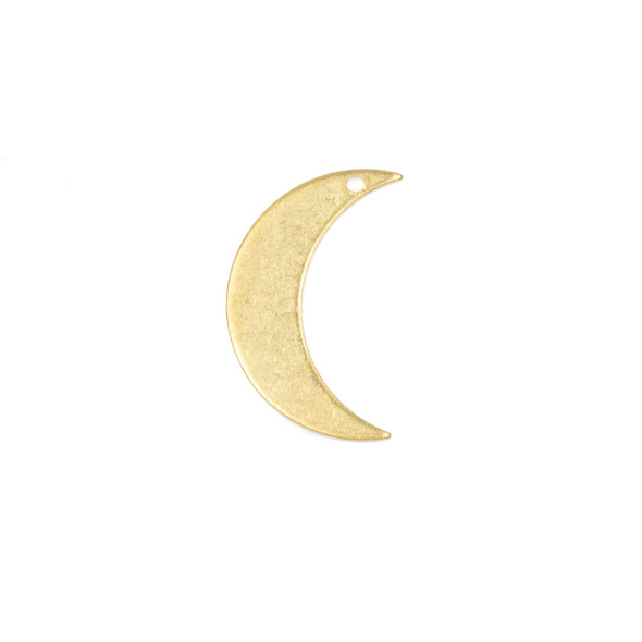 Raw Brass 12x21mm Crescent Moon Component - 6 per bag - CG01260
