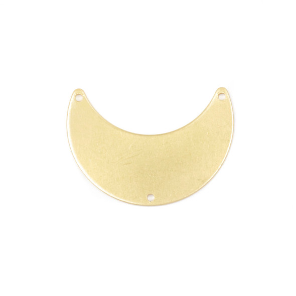 Coated Brass 12x20x28mm Waxing Crescent Moon Link Components with 3 holes - 6 per bag - CG01631c